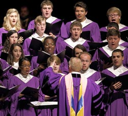 Furman Singers perform in concert.