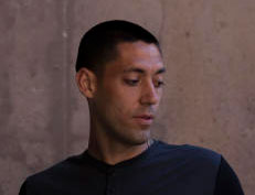 Clint Dempsey speaks to the media before a training session for the United States national soccer team at Stanford Stadium on Sunday, May 18, 2014. (Tim Ball/Bay Area News Group)