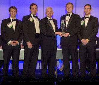 The fraternity members received their award at the NIC annual meeting in Atlanta.