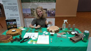 Kylie Stackis representing TreesGreenville at Michelin Earth Day event